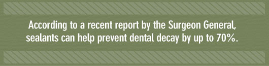 Surgeon General on Tooth Sealants